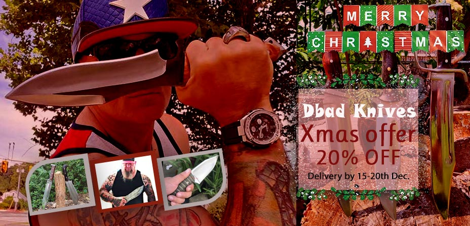 20% Christmas Offer on all DBAD knives