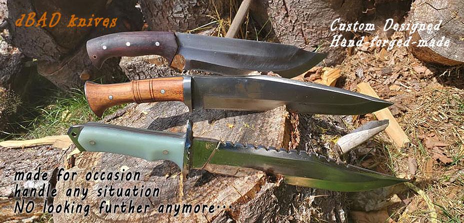 Knives designed by DBAD & handmade at KHHI