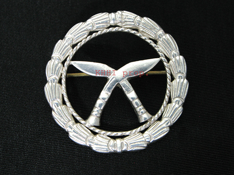 Cross Kukri Silver Badge