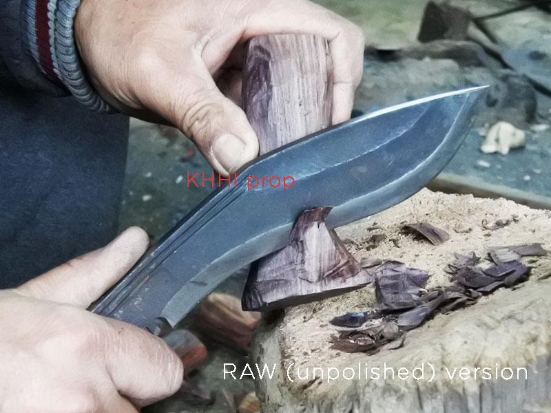 making kukri handle with 8 inch mini panawal unpolished kukri