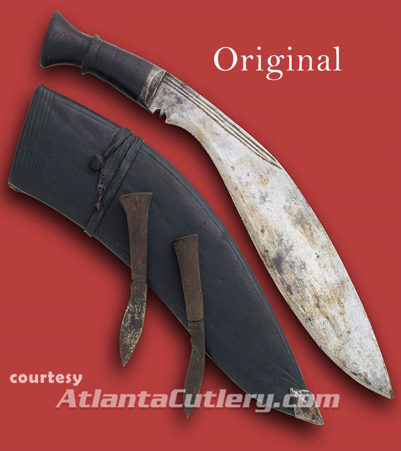 old kukri sheath made of treated leather