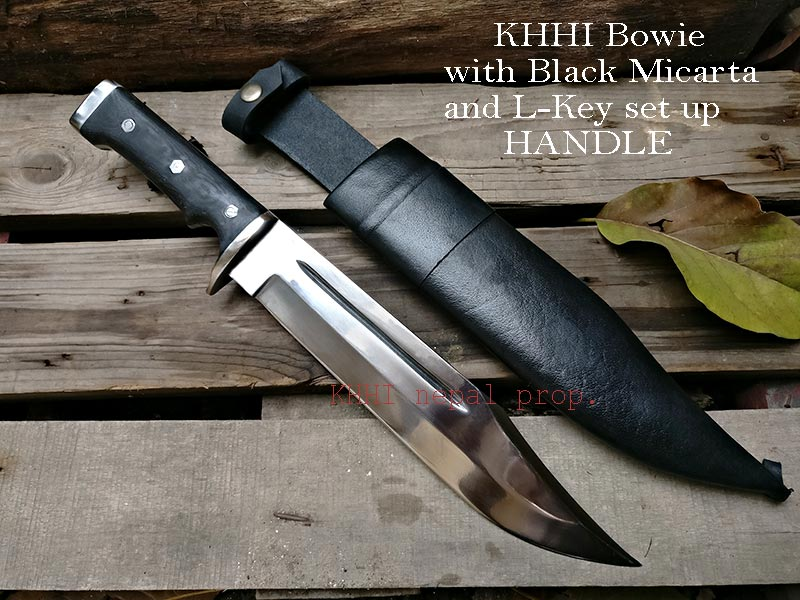 Bowie with ADD-ONS (Black Micarta and L-Key set up Handle)
