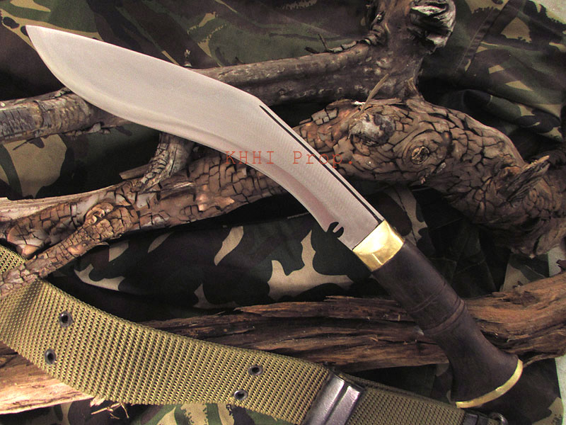 kukri knife with army Camouflage fabric