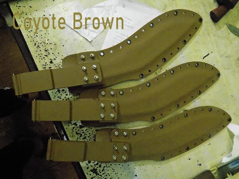Coyote Brown color kydex sheath