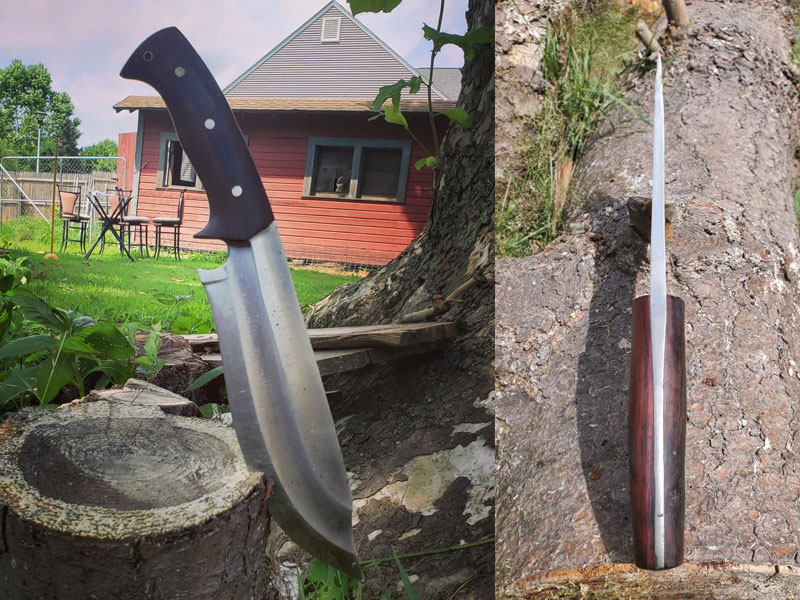 Preacher bowie knife designed by dbad