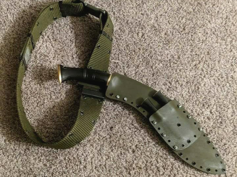 green color kydex sheath for kukri knife