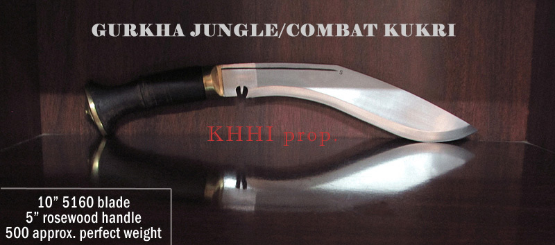 Gurkha Jungle-Combat Kukri, fight and field knife