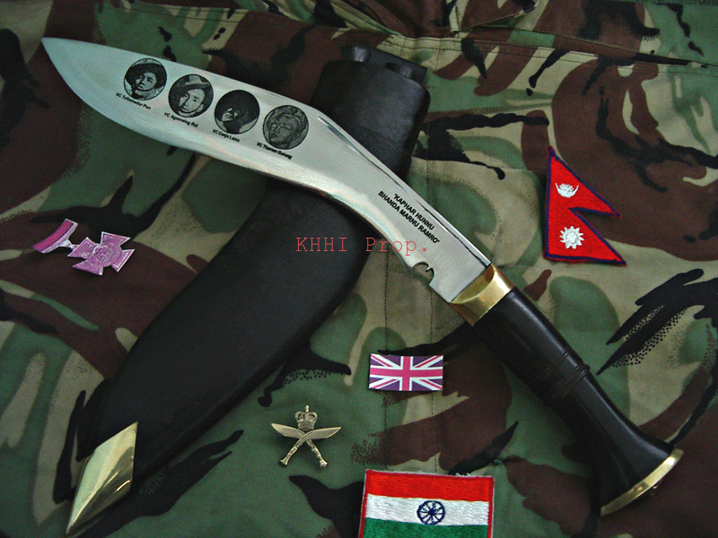 Kukri dedicated to the Gurkhas with VC medals