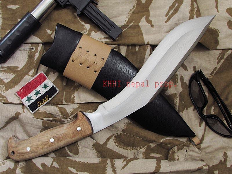 Humvee knife with double edge blade