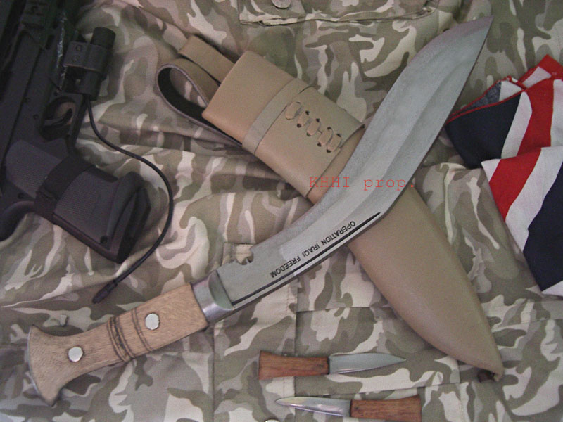 Operation Iraqi Freedom military kukri knife