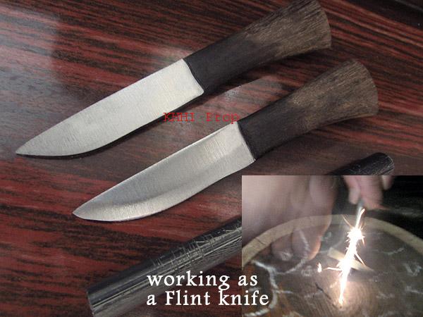 Karda chakmak used as flint knife