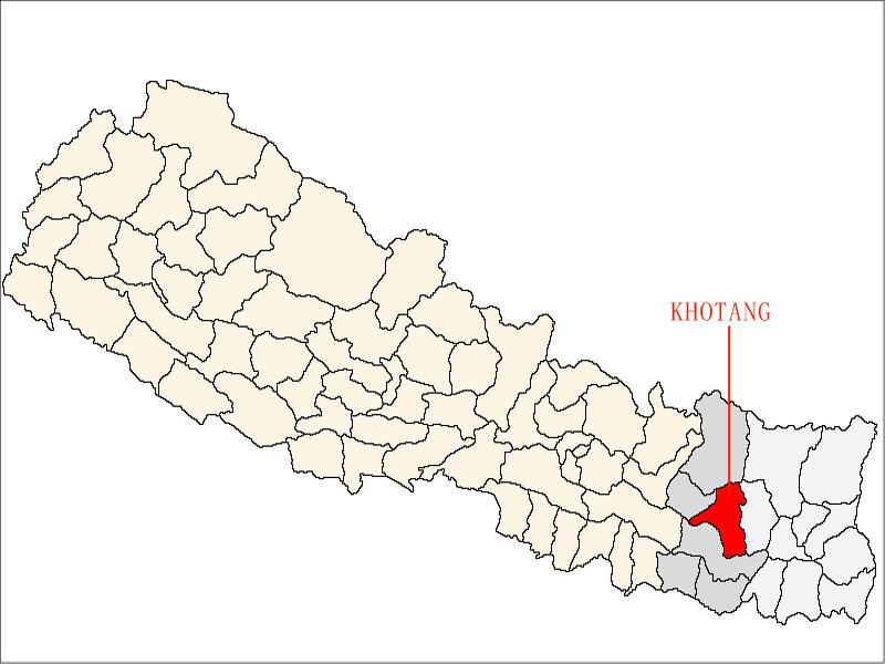 khotang village in map of nepal