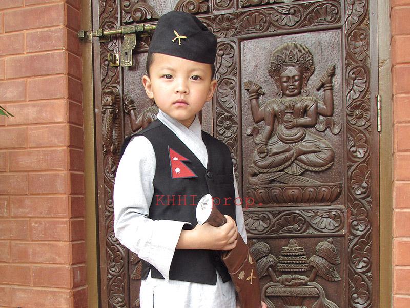 The famous Gurkha cross insignia kukri badge