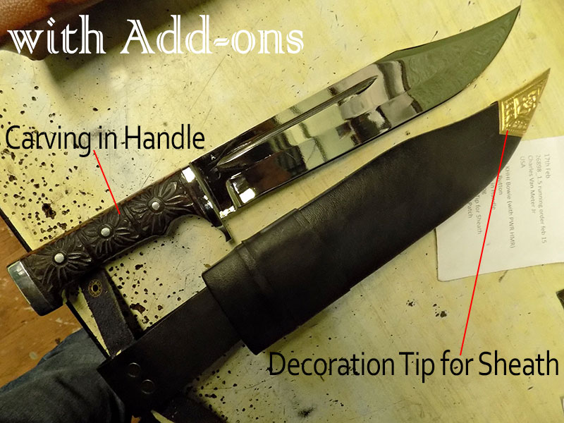 Preview of the knife with the mentioned Add-Ons