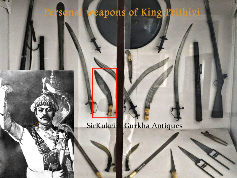 personal weapons of king Prithivi