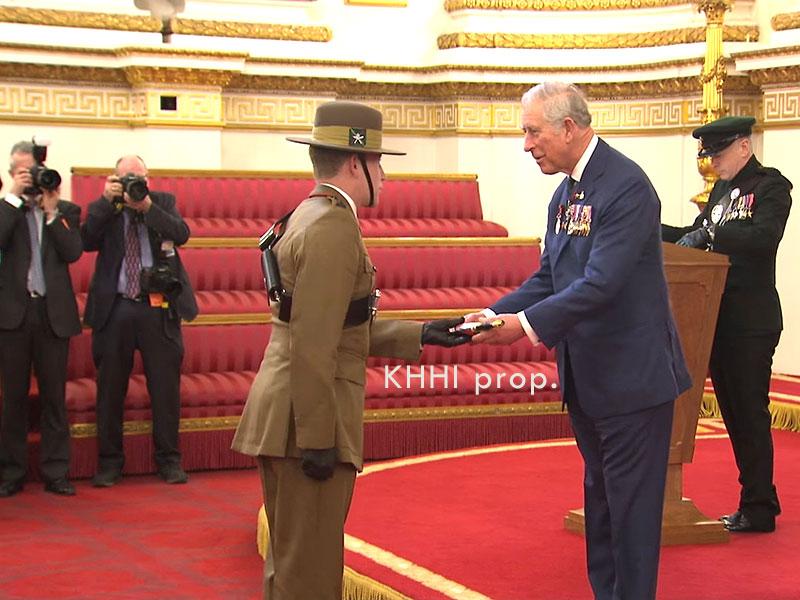 Kothimoda khukuri being given to a retiring Gurkha Officer