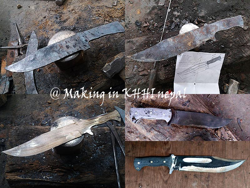 At the various making stages