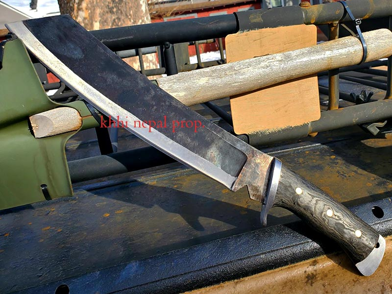 Full View of dbad Mission IV machete knife