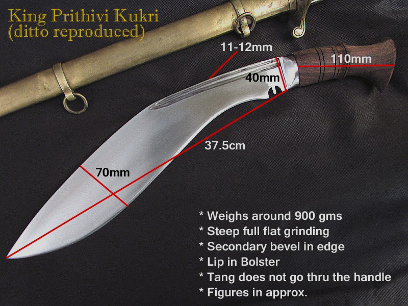 king prithivi knife dimensions