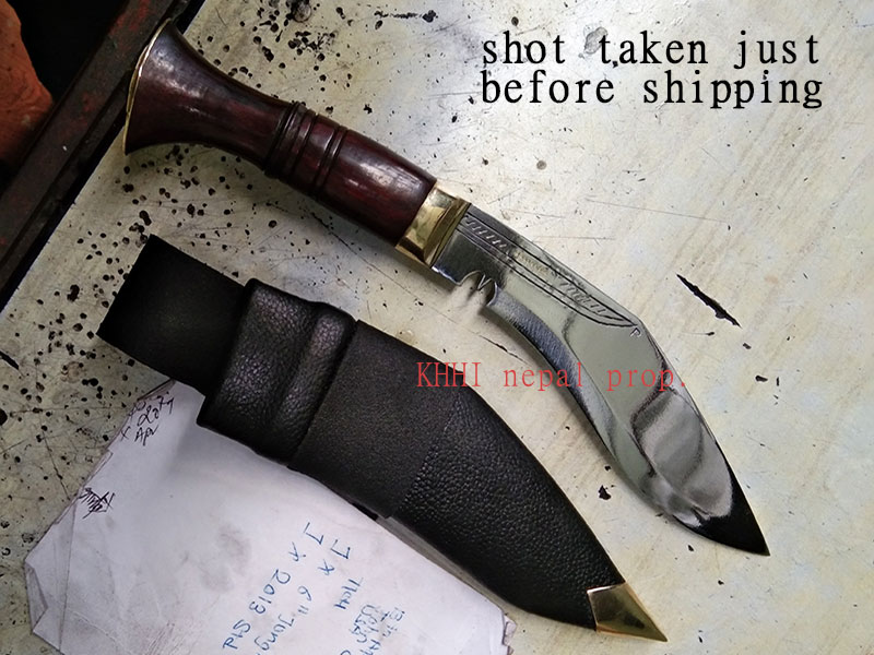 6inch Jungle kukri; just before shipping to its buyer