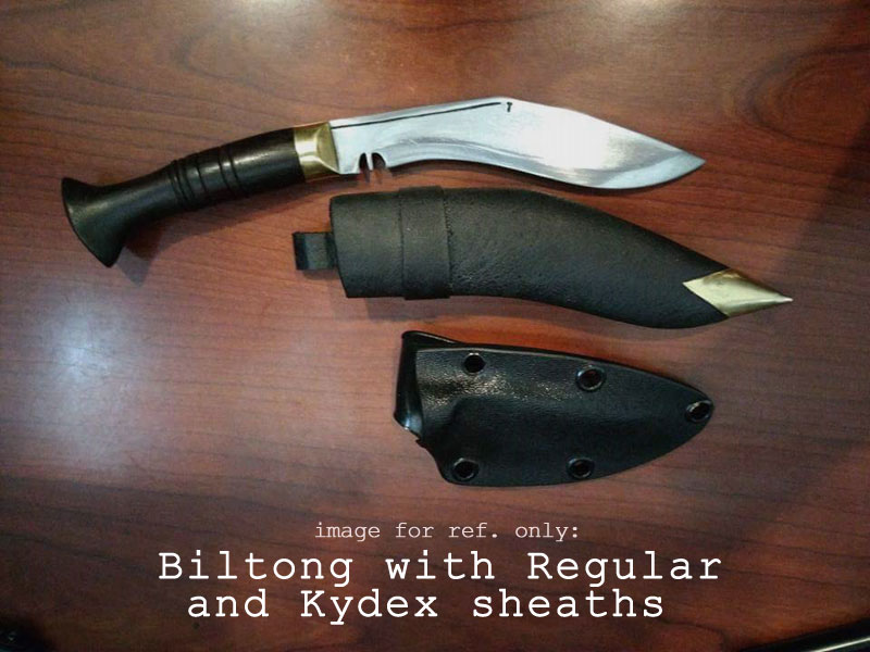 Biltong with kydex sheath (order from Add-Ons)