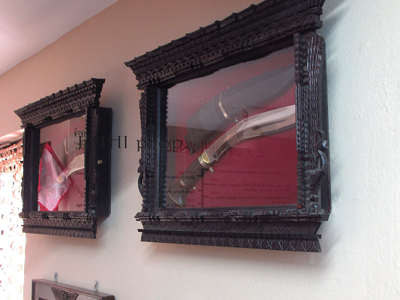 kukri displayed in Classic Nepalese Wall Frame