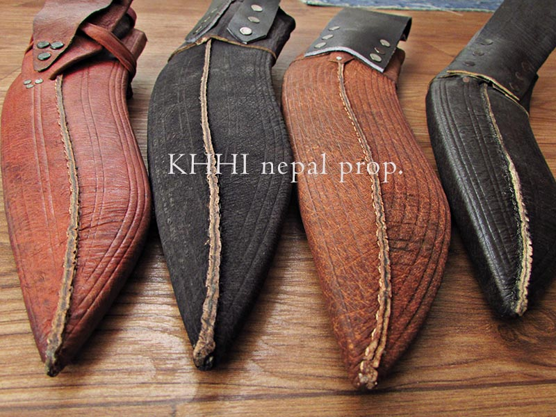special treated leather sheath for khukuri