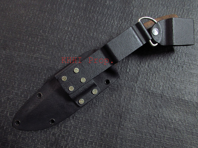 Survival knife with black KYDEX sheath