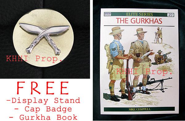 free items with 2013 issue gurkha kukris
