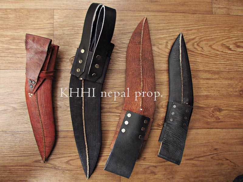 treated leather dap for kukri knife