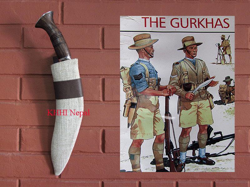 khukuri with khaki sheath used in world war