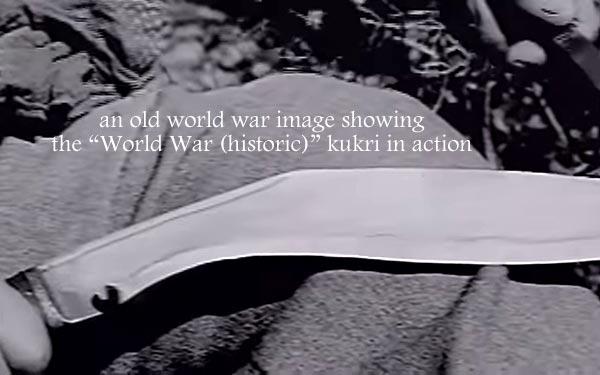 World War in Gurkha's hand