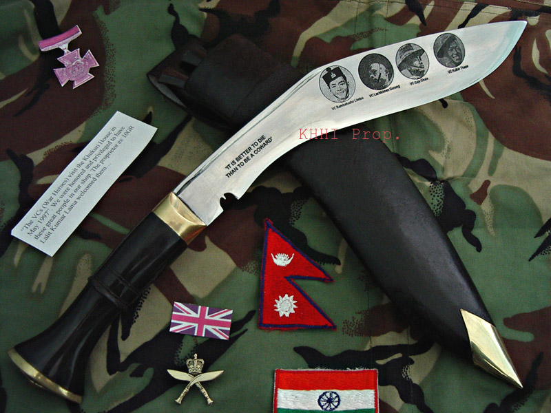 Khukuri made to honor the VC winners