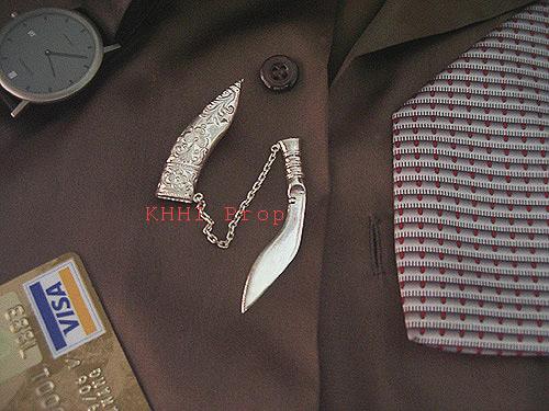 Silver Tiepin (Kukri Pin)