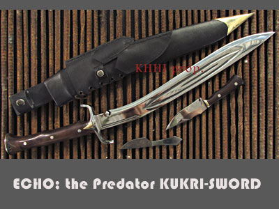 ECHO the Predator kukri-sword