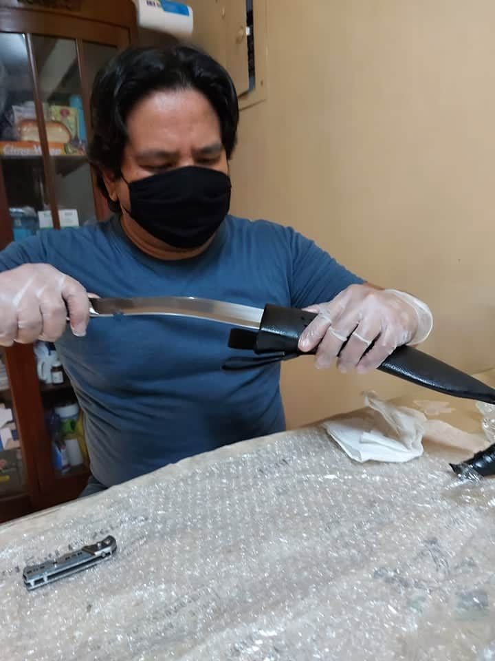 Koy Claustro from philippines with his jungle panawal kukri