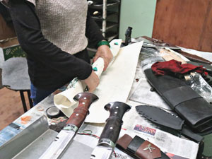 Packing kukri for shipping