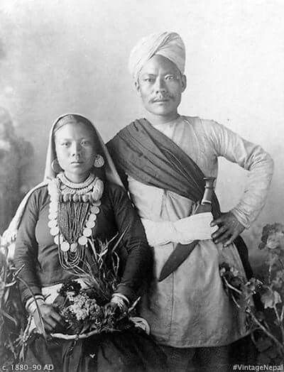 a-Gorkha-couple-1800s
