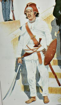 a native Gorkhali soldier