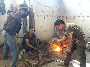 forging and hammering Fala