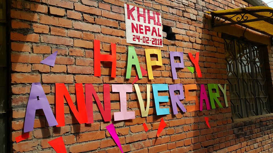 anniversary special wall design at KHHI