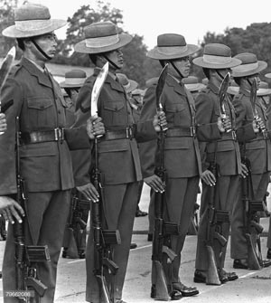 British Gurkhas with Service kukris,1980's